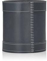 Arte & Cuoio Leather Enrico Wastebasket-GREY