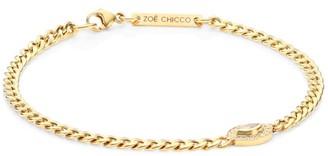 Zoë Chicco Diamond Eye 14K Yellow Gold Curb Chain Bracelet