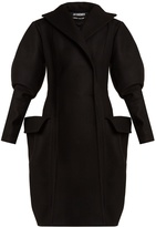 Jacquemus Oversized-pocket double-breasted wool coat
