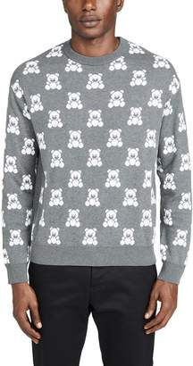 Moschino All Over Bear Print Sweater