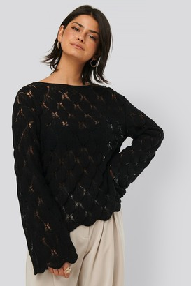 NA-KD Pattern Knitted Long Sleeve Sweater