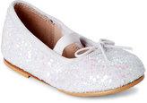 Bloch Toddler Girls) White Sparkle Glitter Mary Jane Flats