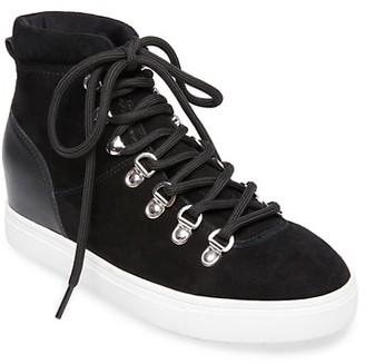 STEVEN NEW YORK Kalea Suede High-Top Wedge Sneakers