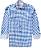 Visconti Tile Pattern Jacquard Long-Sleeve Woven Shirt
