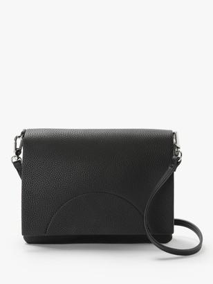 KIN Sia Flapover Cross Body Bag, Black