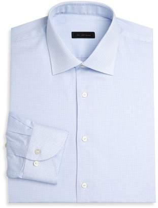 Saks Fifth Avenue Travel Stretch Cross Check Dress Shirt