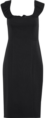 Milly Savannah Ruffle-trimmed Cady Dress