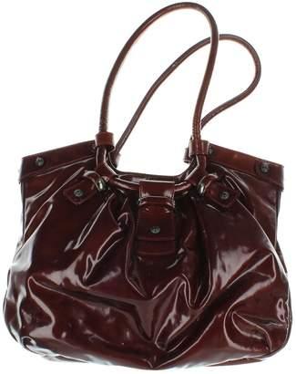 Salvatore Ferragamo Burgundy Patent leather Handbags