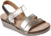 Skechers Women's Troos Brons Ankle Strap Wedge Sandal