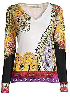 78ee0133839 Etro Women s Paisley V-Neck Pullover