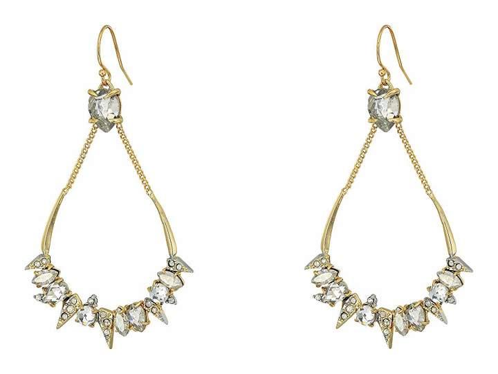 Alexis Bittar Crystal Encrusted Mosaic Futuristic Tear Earrings