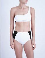 Stella McCartney Stella iconic colour block one shoulder bikini top
