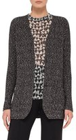 Akris Tweed Two-Button Cardigan, Black/White