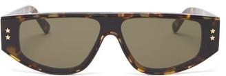Stella McCartney Flat-top Tortoiseshell-acetate Sunglasses - Tortoiseshell