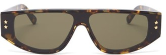 Stella McCartney Flat-top Tortoiseshell-acetate Sunglasses - Womens - Tortoiseshell