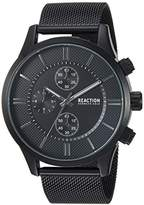 Kenneth Cole Reaction Men's Quartz Metal and Stainless Steel Casual Watch, Color:Black (Model: RKC0214001)