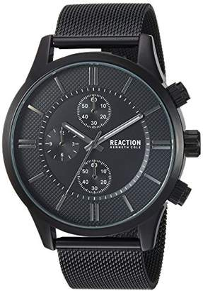 Kenneth Cole Reaction Male Analog-Quartz Watch with Black Strap