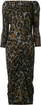 Vivienne Westwood leopard print gather detail dress