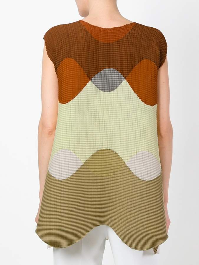 Issey Miyake block colour vest