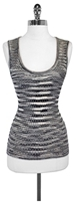 M Missoni Peach Metallic & Wool Tank Top