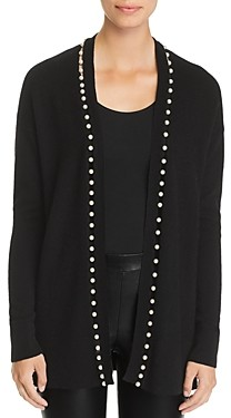 C by Bloomingdale's Pearl Embellished Open Front Cashmere Cardigan - 100% Exclusive