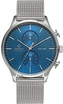 Obaku Men's V196GUCLMC Casual Classic Dual Time Watch with 3 Hands