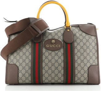 Gucci Neo Vintage Web Duffle Bag GG Coated Canvas Medium