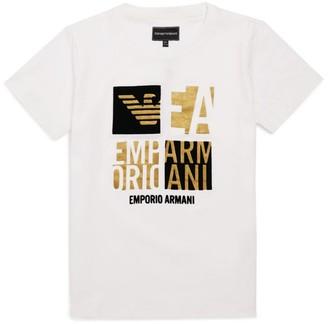 Emporio Armani Kids Metallic Logo T-Shirt (4-16 Years)