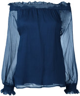 P.A.R.O.S.H. off-the-shoulder blouse - women - Silk/Polyester - S