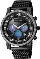 Akribos XXIV Unisex Black Strap Watch-A-713bk