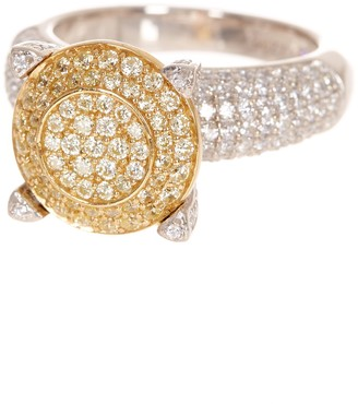 LeVian Suzy Jewelry Sterling Silver & 14K Gold Plated Pave CZ Ring
