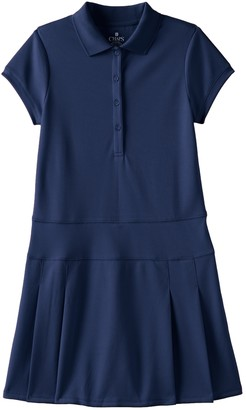 Chaps Girls 7-16 Pleated Polo Dress
