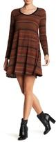 Lush Ribbed Sweater Swing Dress
