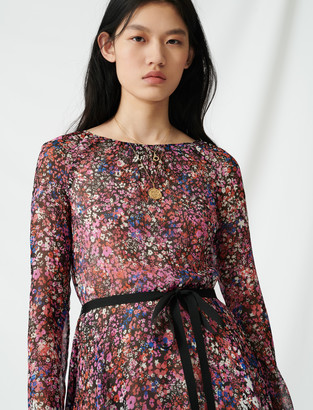 Maje Belted floral dress