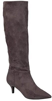 Journee Collection Comfort Foam Vellia Boot - Extra Wide Calf (Grey) Women's Shoes