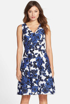 Adrianna Papell 12249891 Rose Pattern A-Line Dress