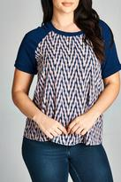 Gilli Navy Printed Blouse