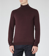 Reiss Reiss Observe - Rollneck Jumper In Purple