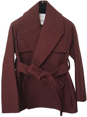 Celine Burgundy Wool Coats