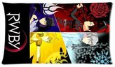 custom pillow case Spliced Pattern RWBY Custom Pillowcase Pillow Sham Pillow Cushion Case Cover Two Sides Printed 20x26 Inches