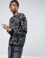 Asos Knitted Sweater With Rooster Design
