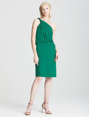 Halston Braided Strap Dress