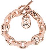 Michael Kors Logo-Lock Charm Bracelet, Rose Golden