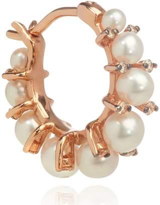 Annoushka Diamondsand Pearls Rose Gold Hoop Earring