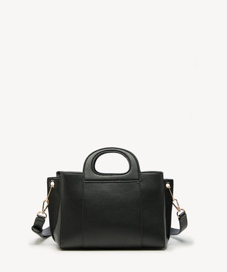 Sole Society Women's Xaire Cut Out Satchel Faux Leather In Color: Black Bag From