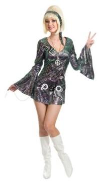 BuySeasons Women's Psychedelic Swirl Disco Diva Adult Costume