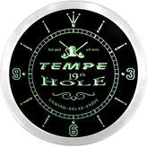 AdvPro Clock ncpi2196-g TEMPE Golf 19th Hole Pub Bar Beer LED Neon Sign Wall Clock