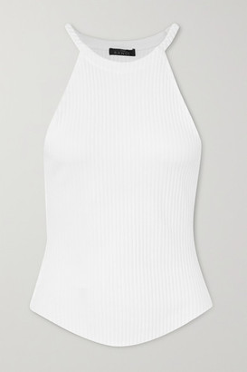 The Range Division Braided Ribbed Stretch Cotton-jersey Tank - White