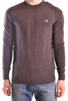 Fred Perry Men's Brown Wool Sweater.