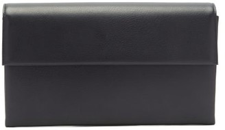 Tsatsas Haze Leather Clutch Bag - Navy